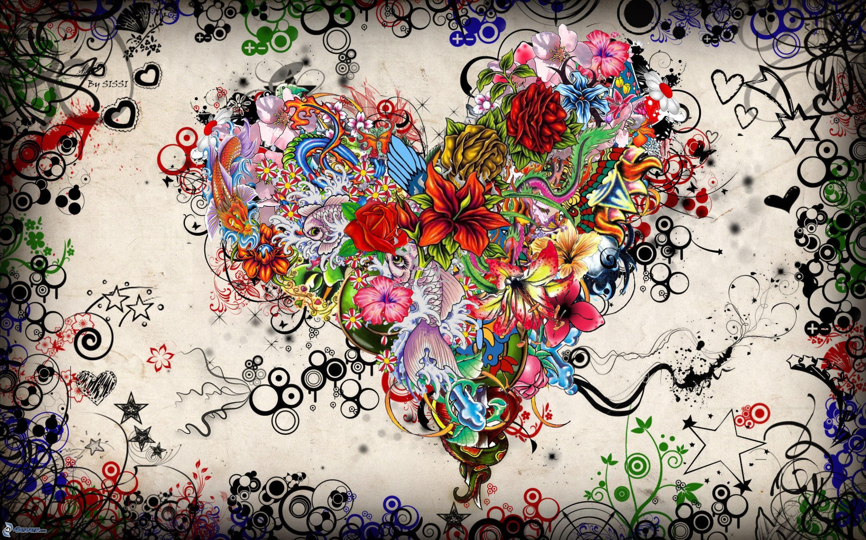 Cuore di fiori for Fiori disegnati