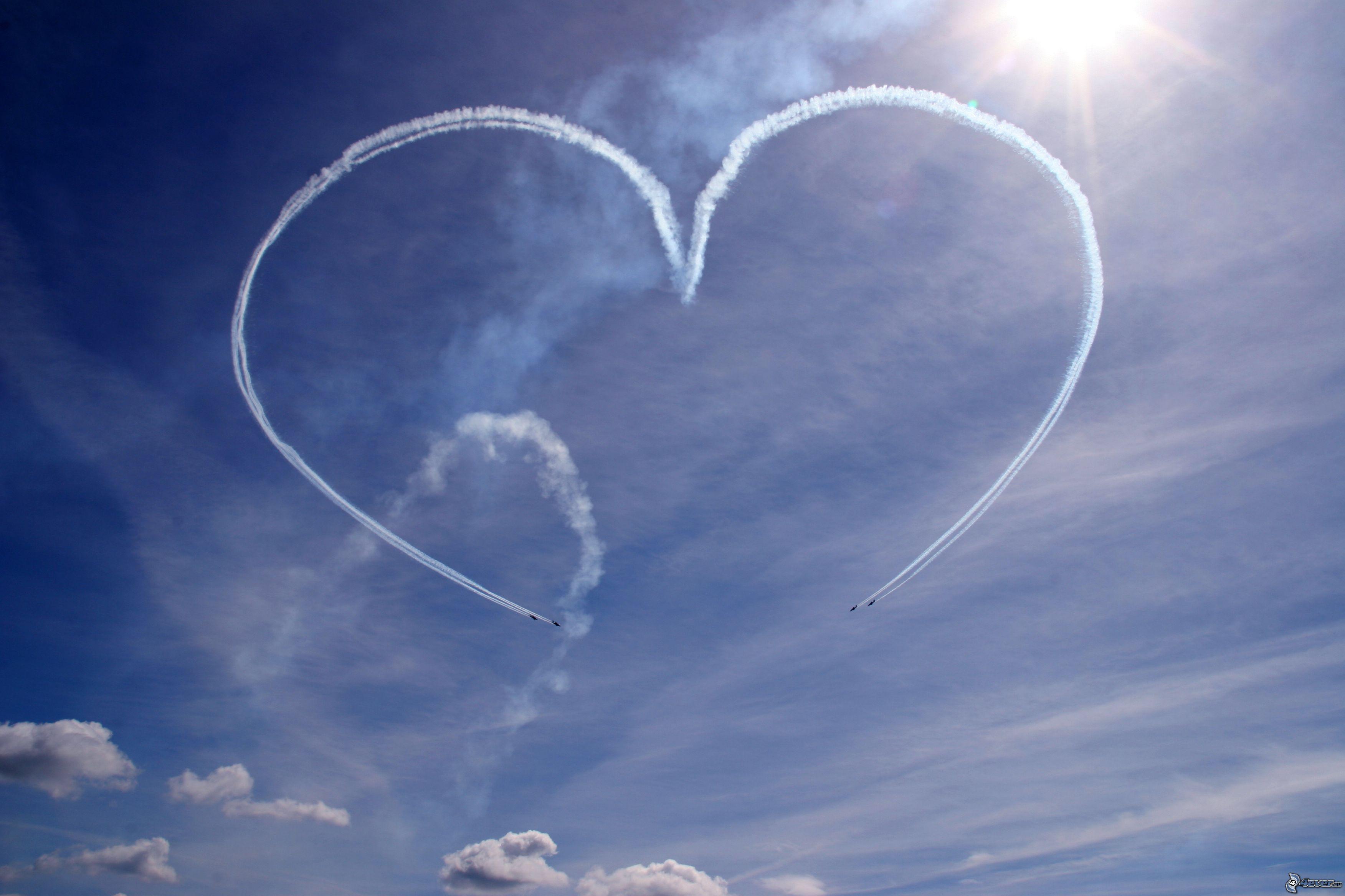 Cuore Nel Sole Cuore Nel Cielo Aerei Amore