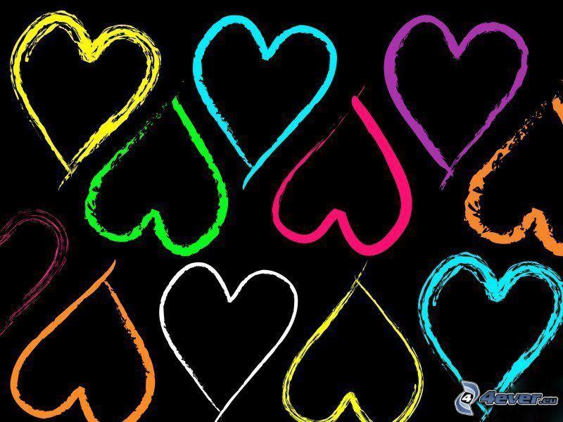 Cuori colorati