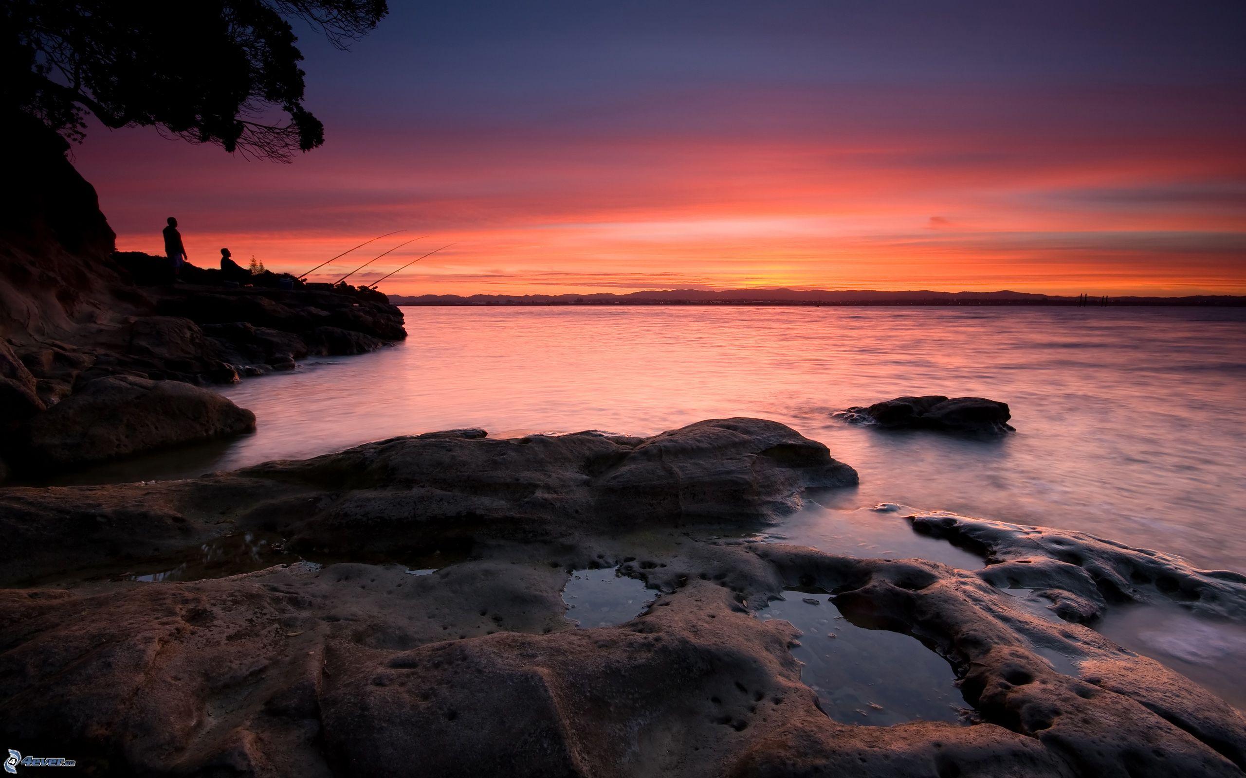 Tramonto sul mare for Sfondi desktop tramonti